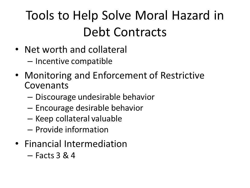 Tools to Help Solve Moral Hazard in Debt Contracts