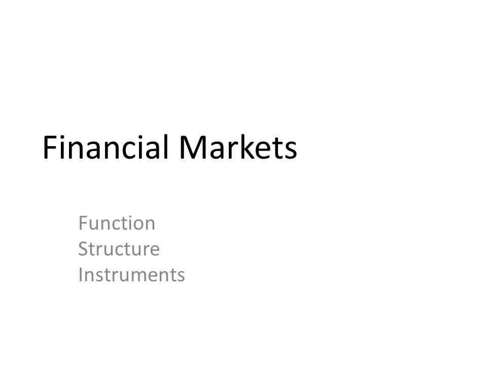 Function Structure Instruments