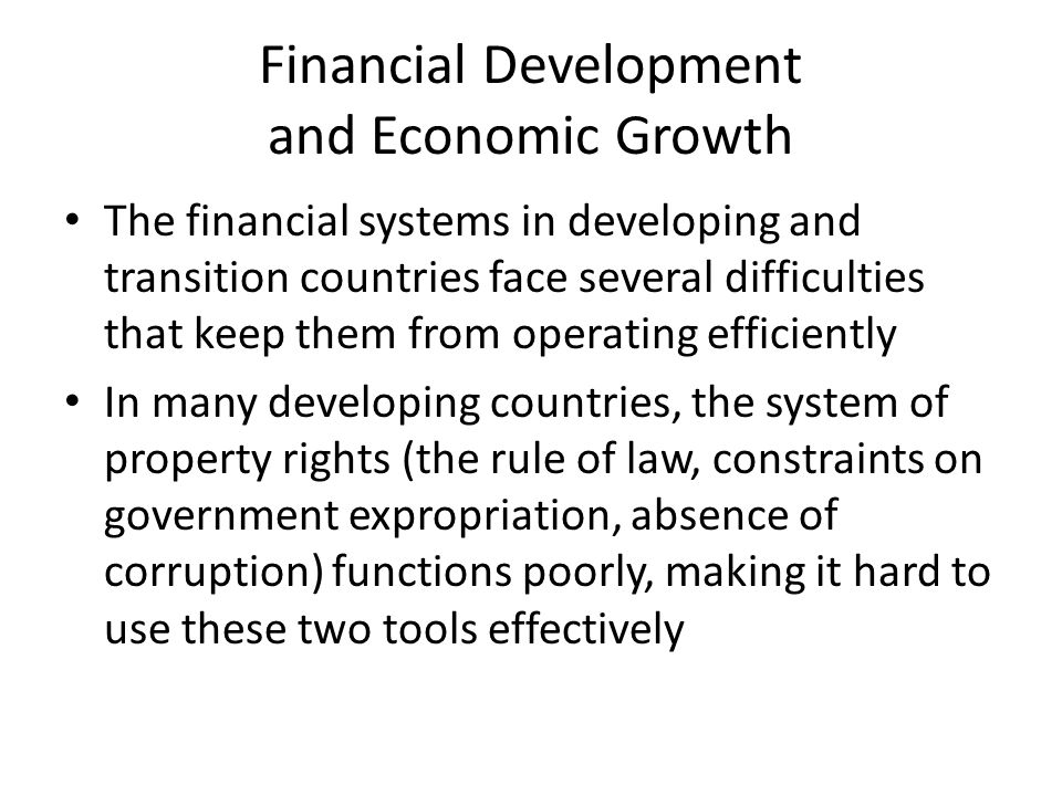 thesis on financial development and economic growth Free economics essays the impact of financial liberalization and financial development on the sector development and economic growth for.
