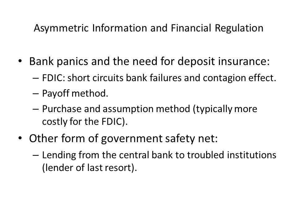Asymmetric Information and Financial Regulation