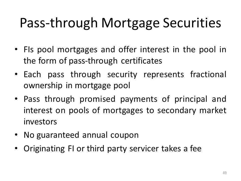 Pass-through Mortgage Securities