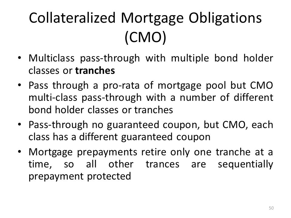 Collateralized Mortgage Obligations (CMO)