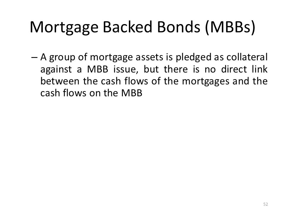 Mortgage Backed Bonds (MBBs)