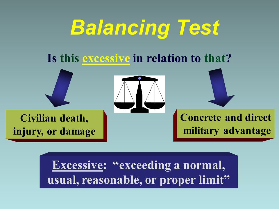 Balancing Test Is this excessive in relation to that