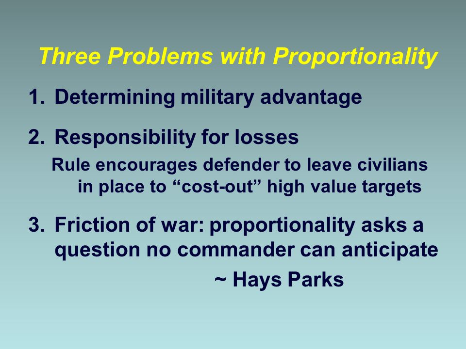 Three Problems with Proportionality