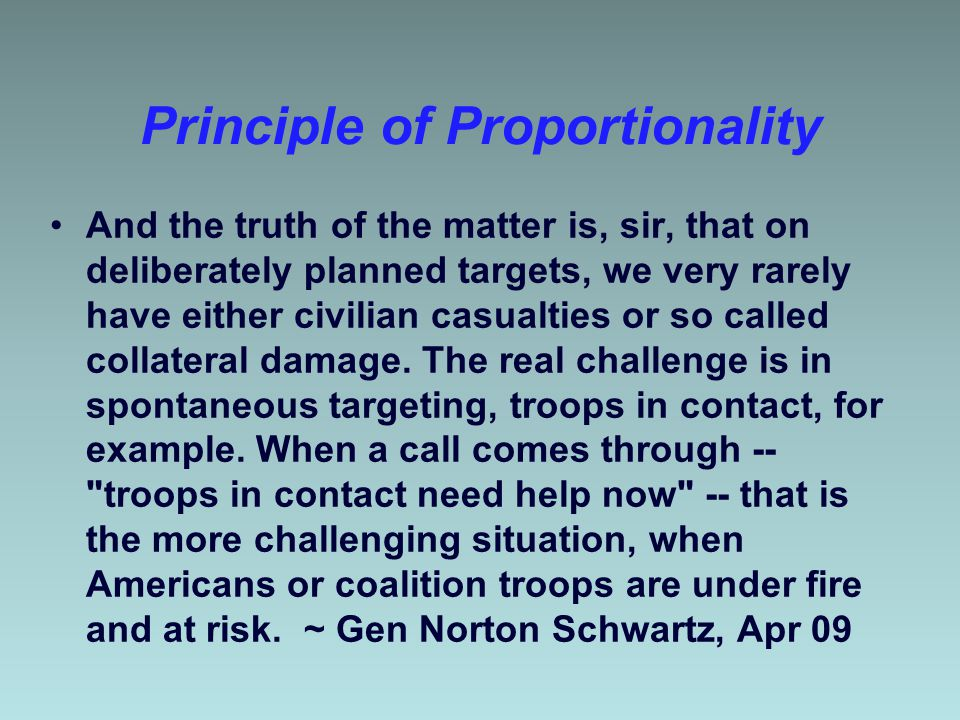 Principle of Proportionality