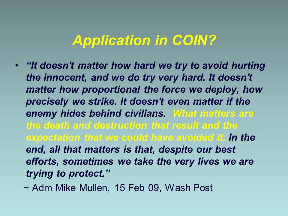 Application in COIN