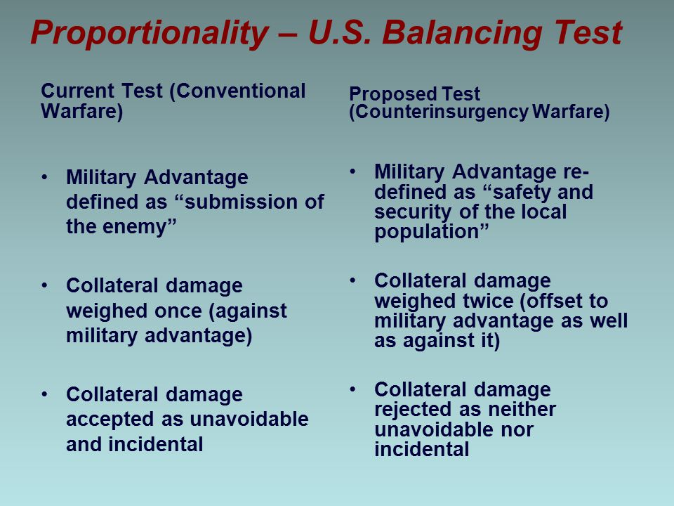 Proportionality – U.S. Balancing Test