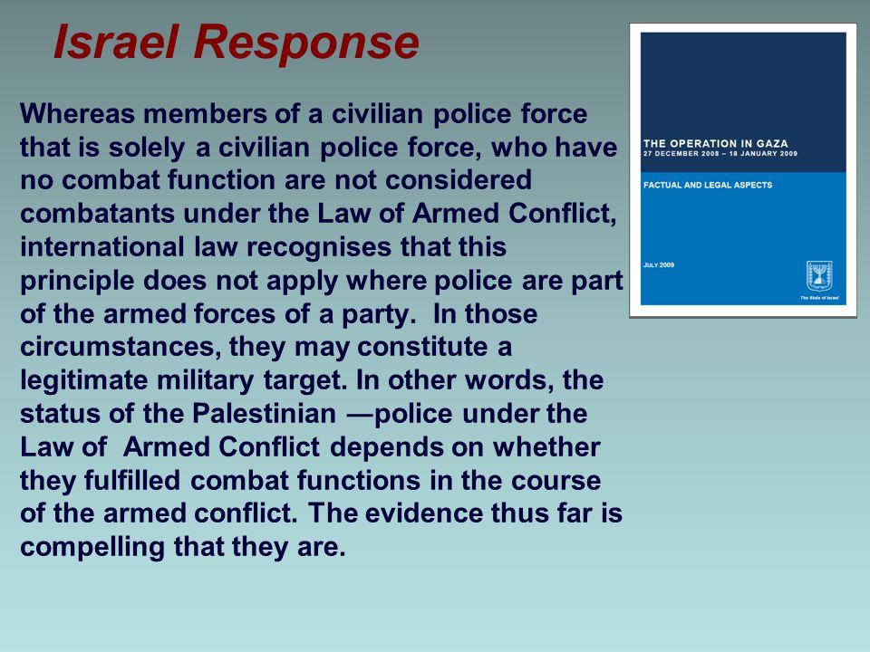 Israel Response
