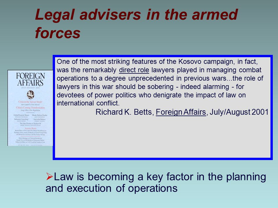 Legal advisers in the armed forces