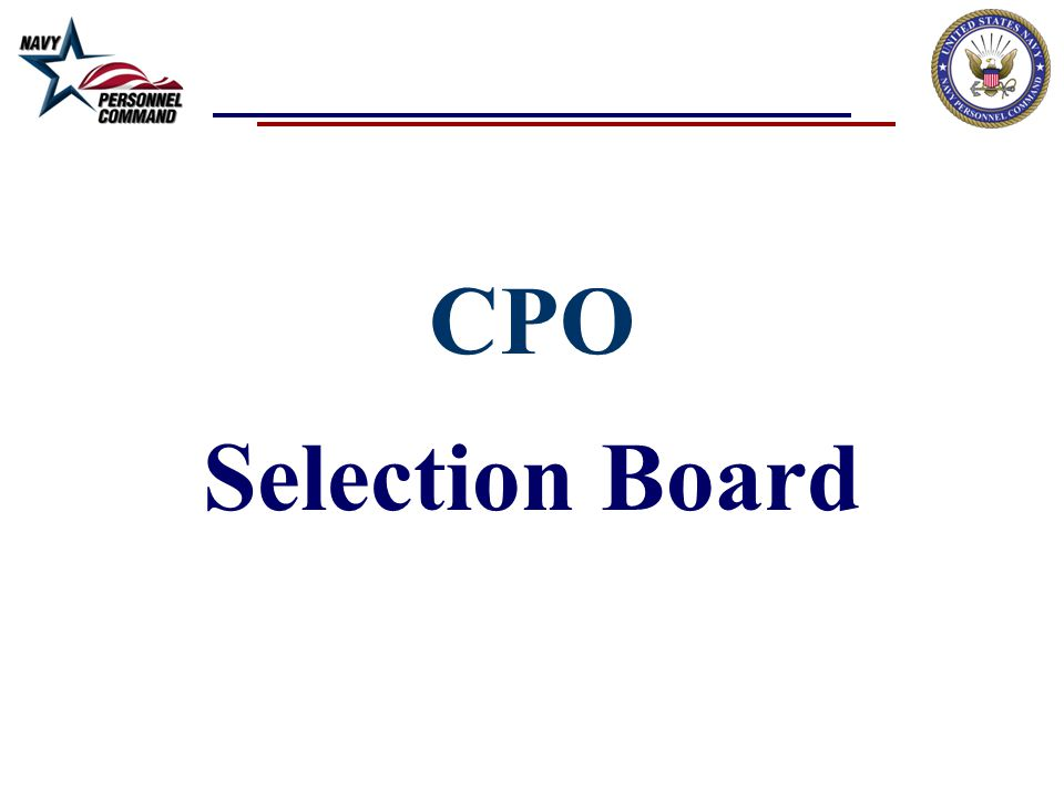 CPO Selection Board