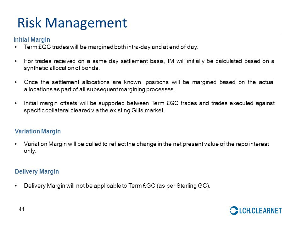 Risk Management Initial Margin