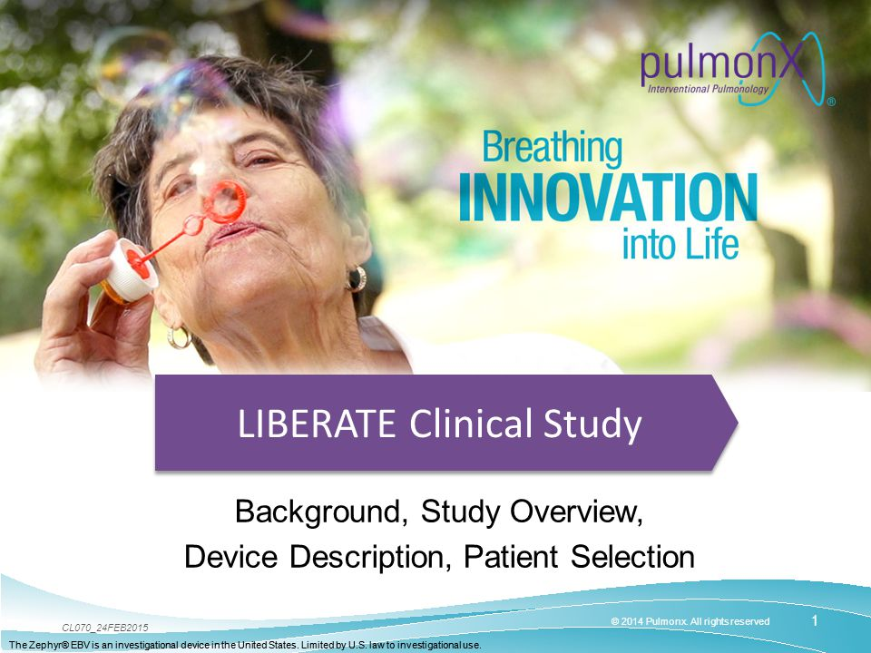 LIBERATE Clinical Study