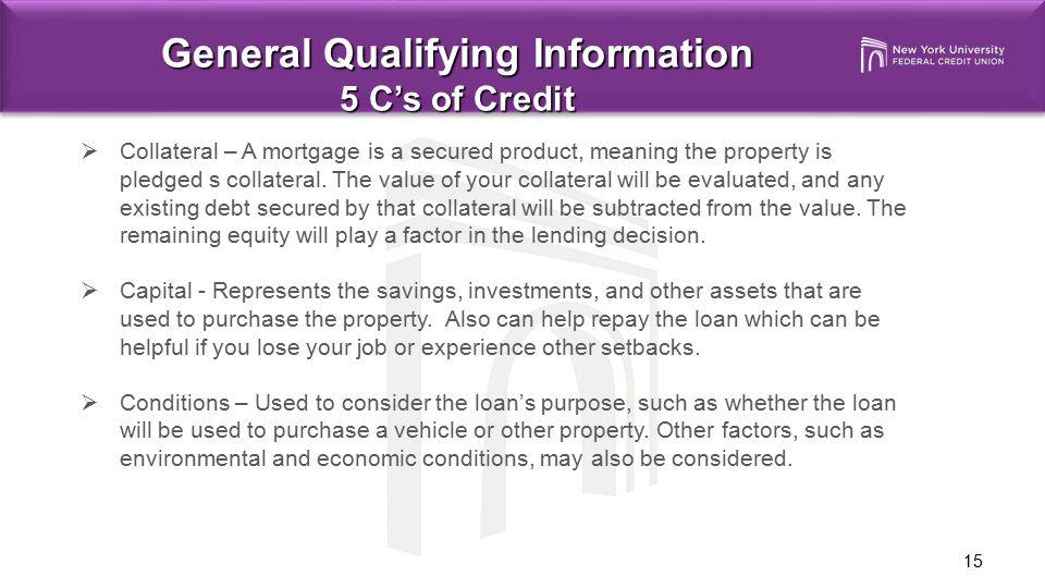 General Qualifying Information