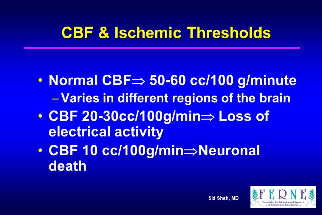 CBF & Ischemic Thresholds
