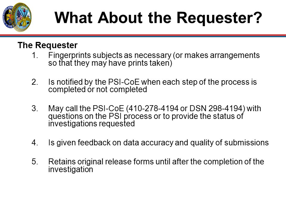 What About the Requester