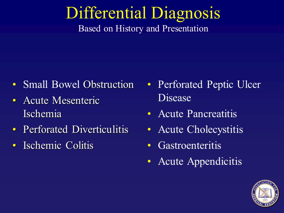 Differential Diagnosis Based on History and Presentation