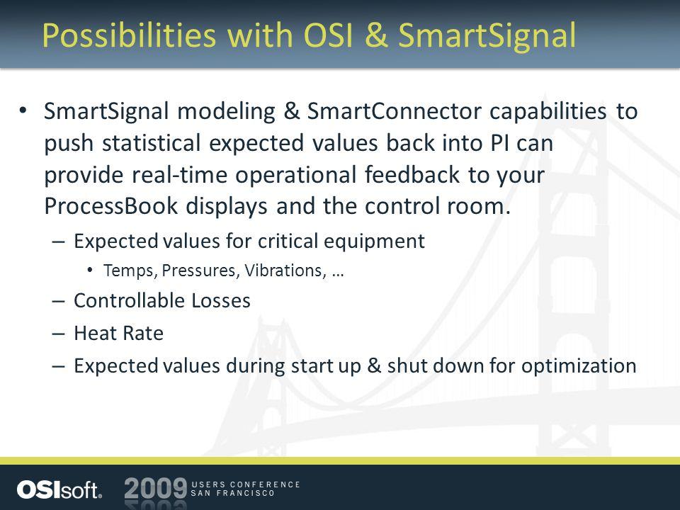 Possibilities with OSI & SmartSignal