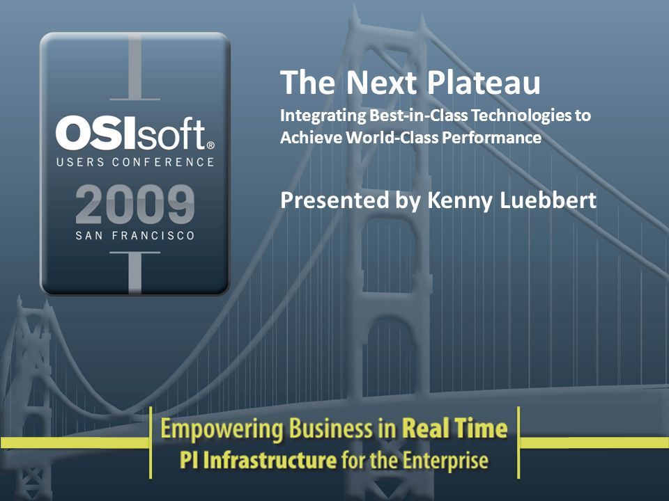 The Next Plateau Presented by Kenny Luebbert