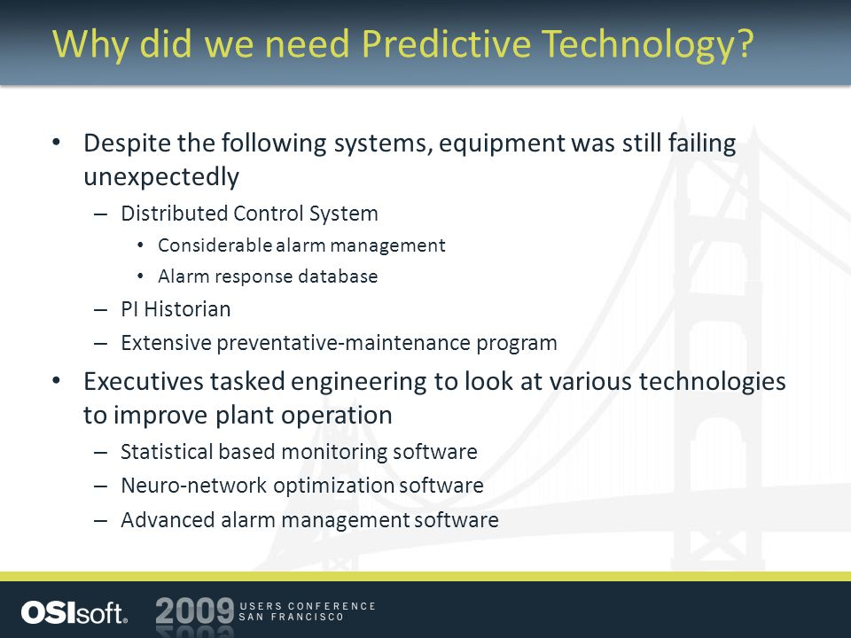 Why did we need Predictive Technology