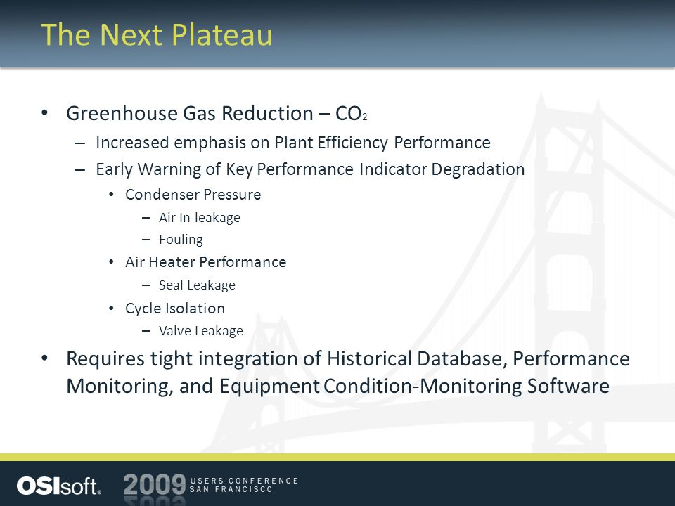 The Next Plateau Greenhouse Gas Reduction – CO2