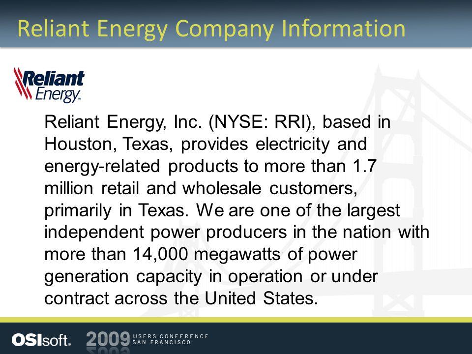 Reliant Energy Company Information