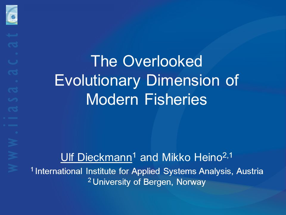 The Overlooked Evolutionary Dimension of Modern Fisheries