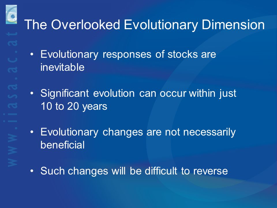 The Overlooked Evolutionary Dimension