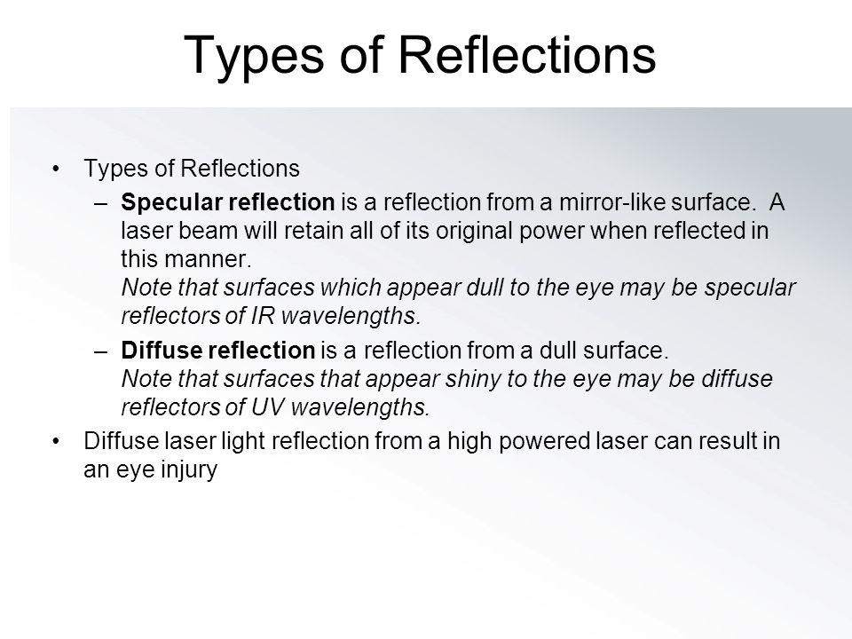 Types of Reflections Types of Reflections