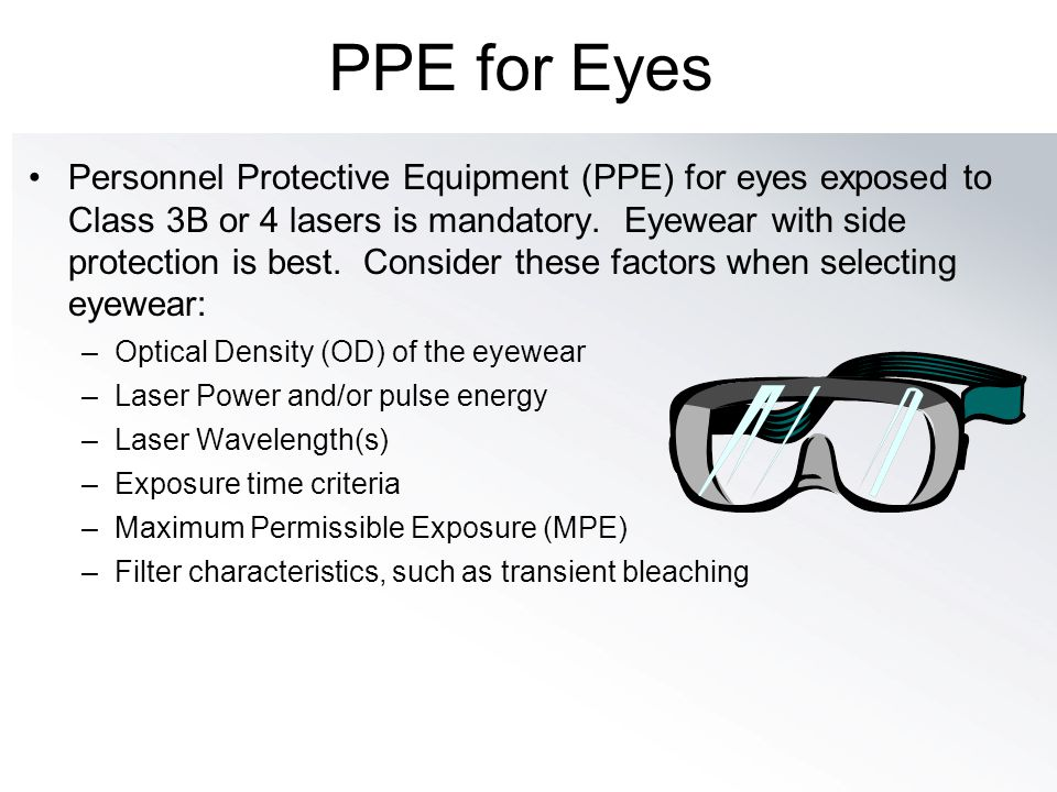 PPE for Eyes