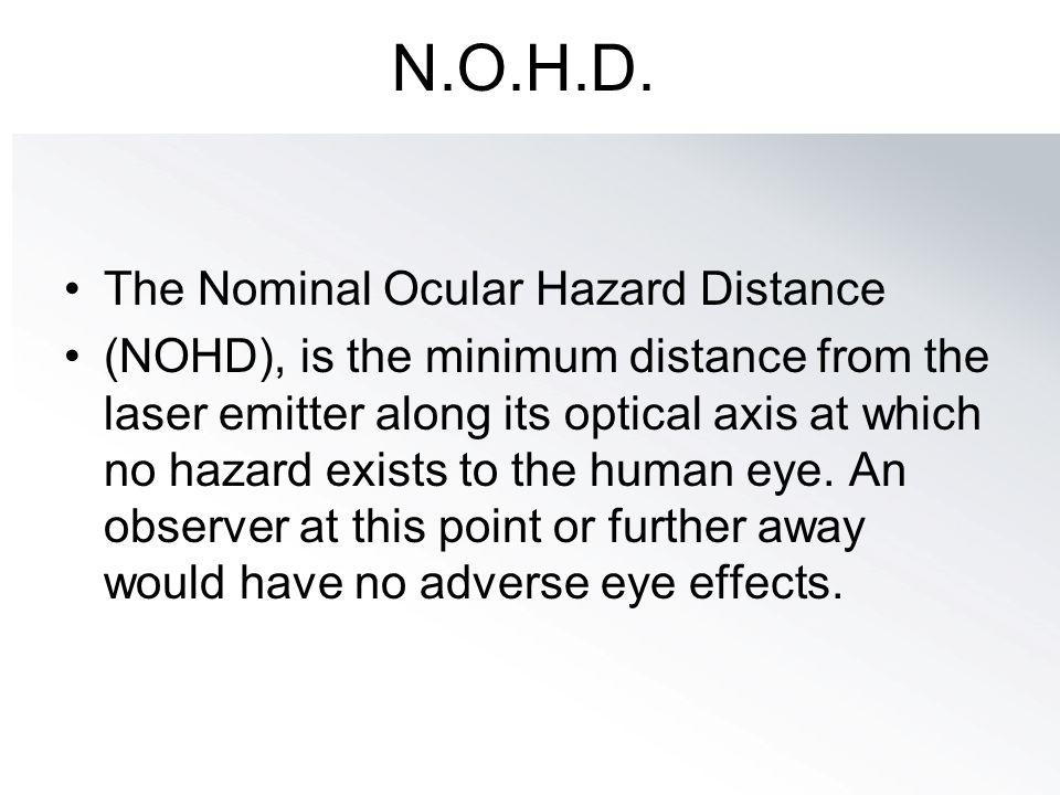 N.O.H.D. The Nominal Ocular Hazard Distance