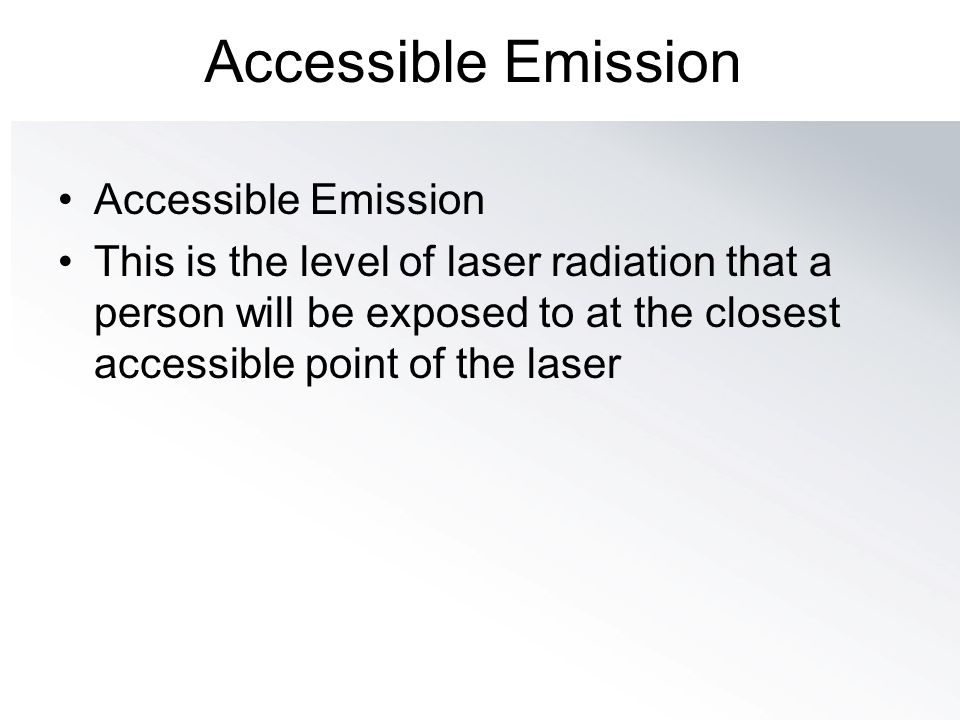 Accessible Emission Accessible Emission