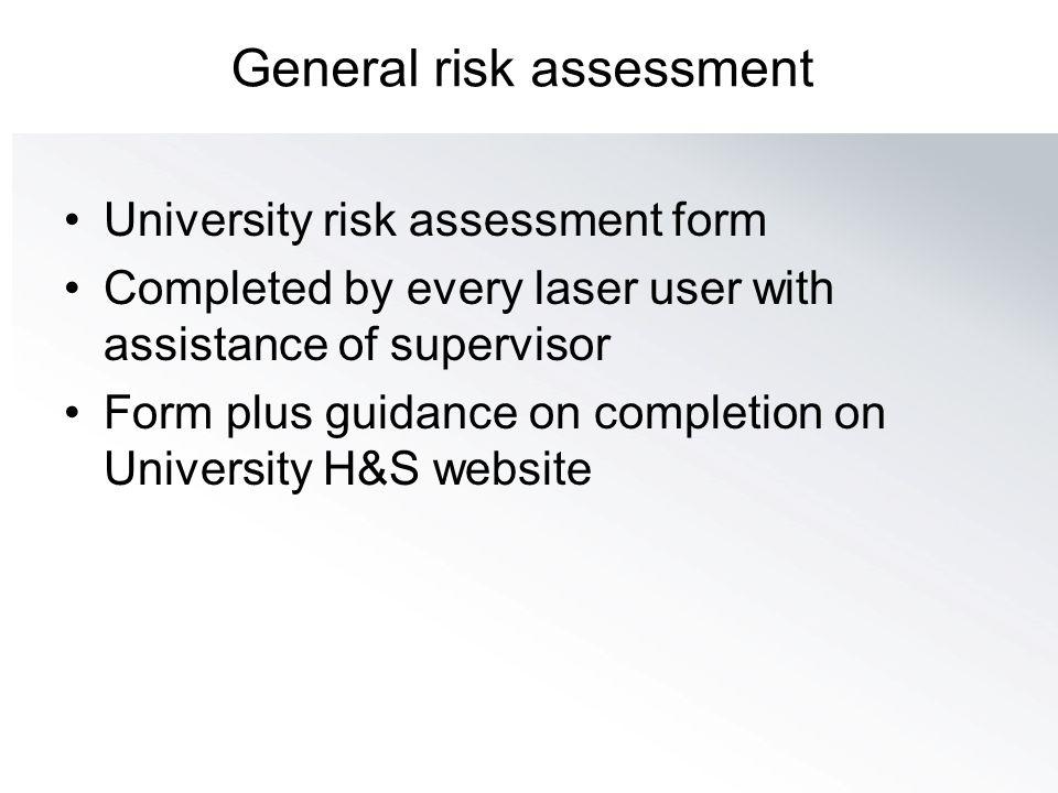 General risk assessment