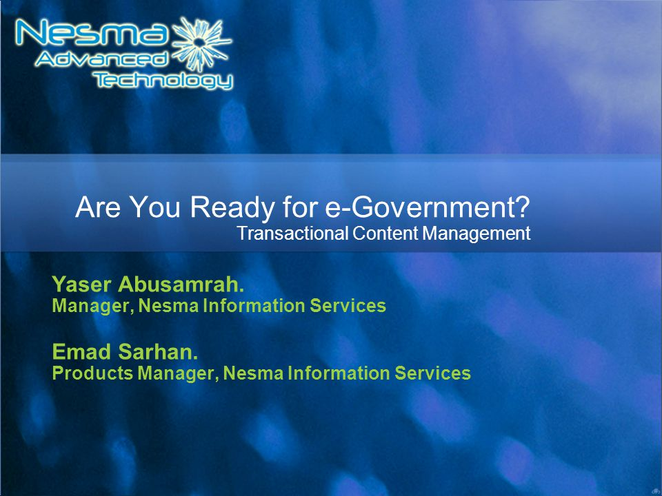 Are You Ready for e-Government Transactional Content Management