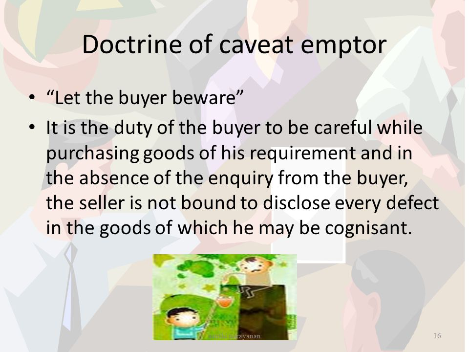 Doctrine of caveat emptor