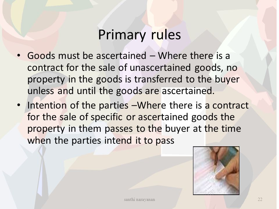 Primary rules