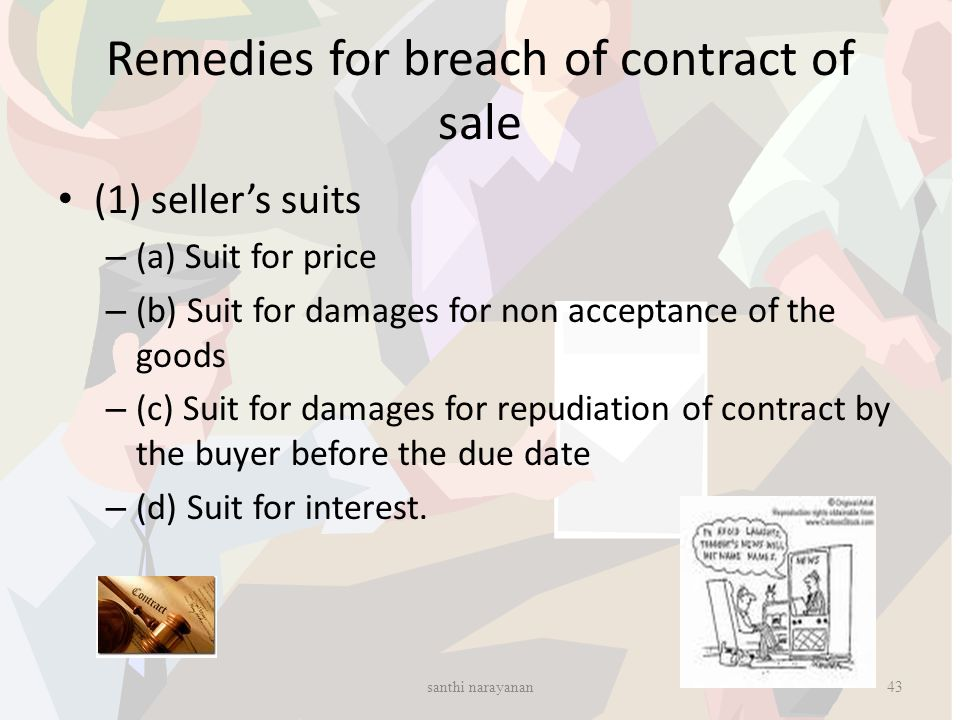 Remedies for breach of contract of sale
