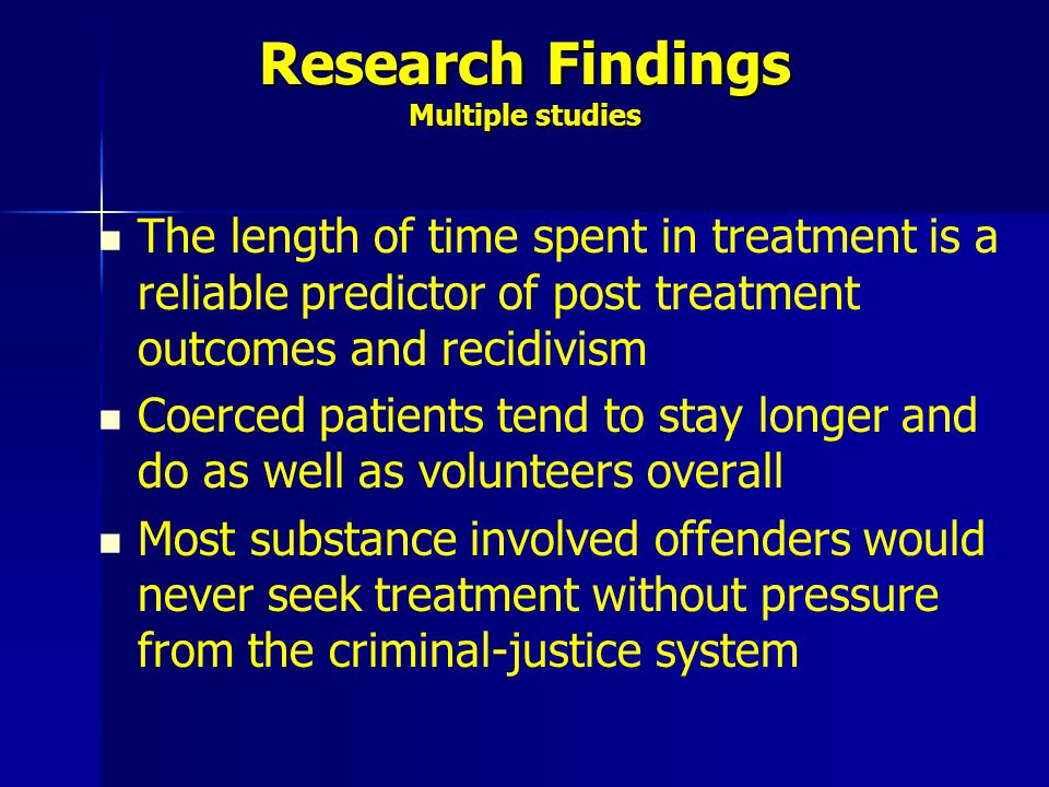 Research Findings Multiple studies