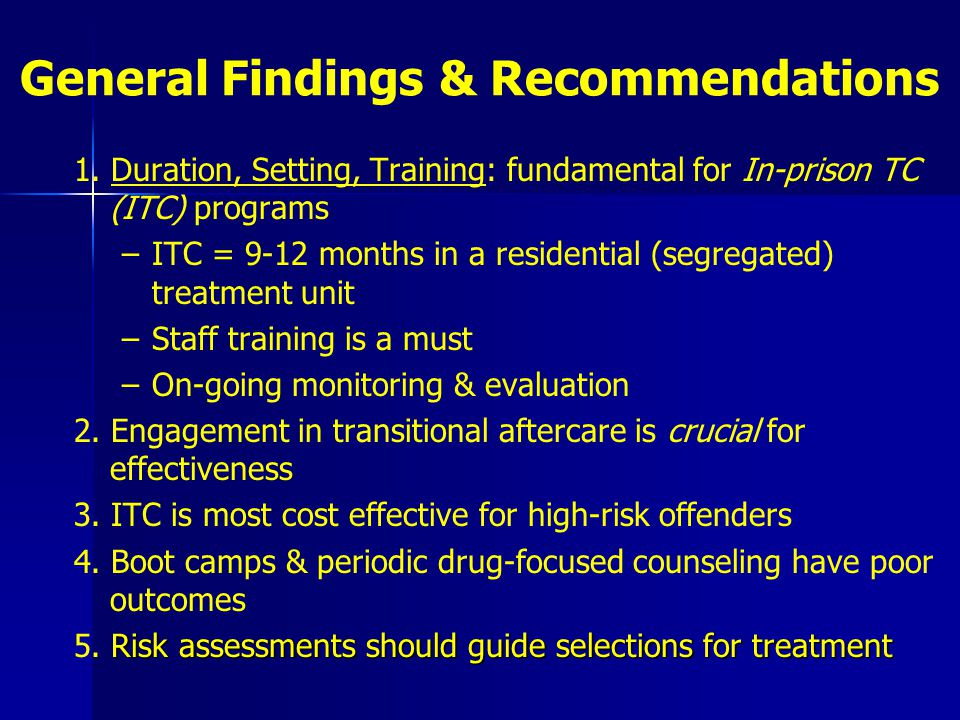 General Findings & Recommendations