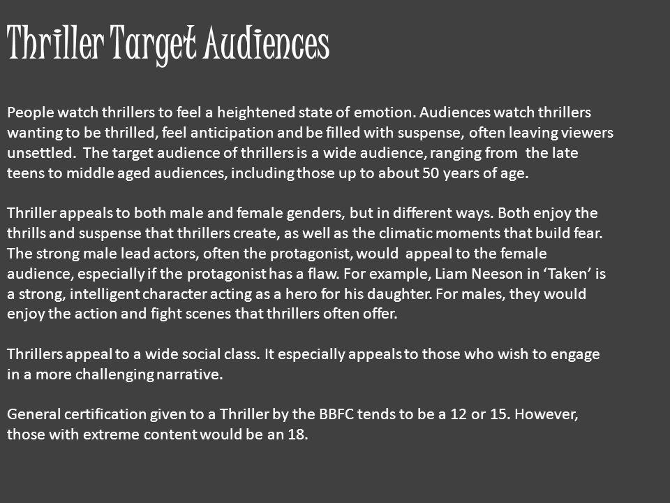 Thriller Target Audiences
