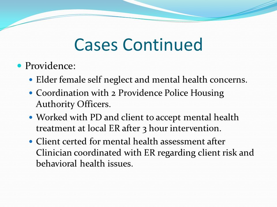 Cases Continued Providence: