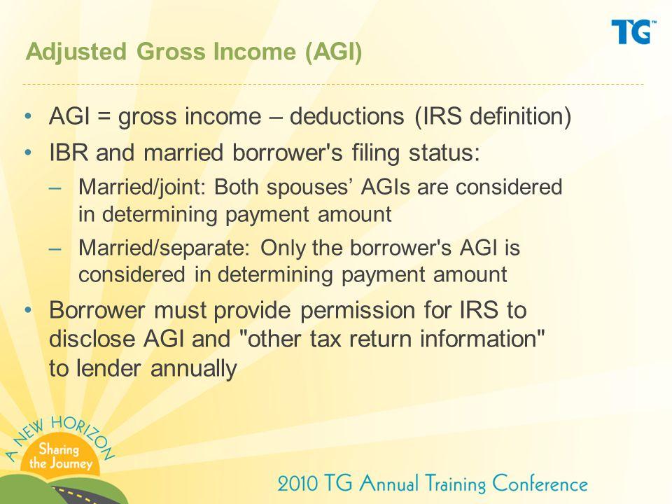 Adjusted Gross Income (AGI)
