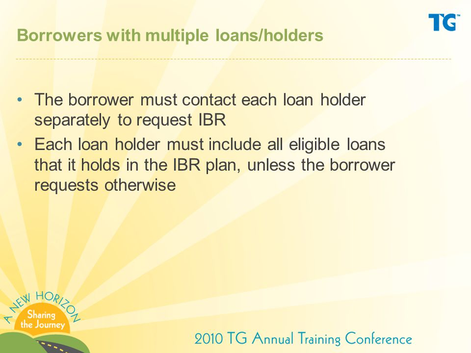 Borrowers with multiple loans/holders