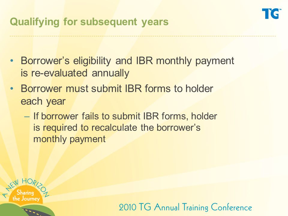 Qualifying for subsequent years