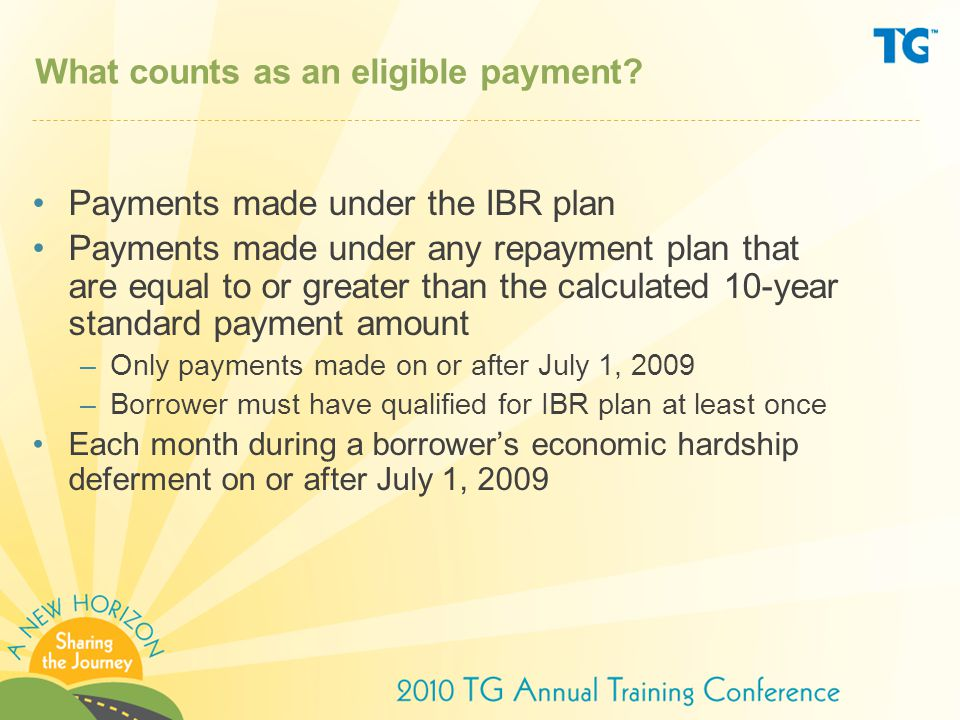 What counts as an eligible payment