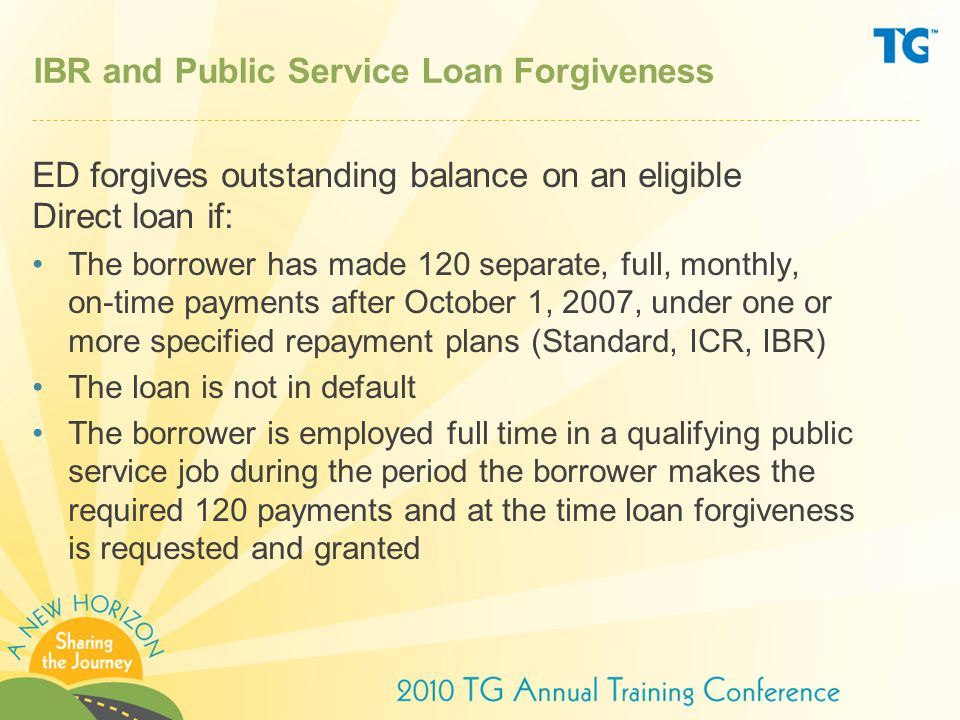 IBR and Public Service Loan Forgiveness
