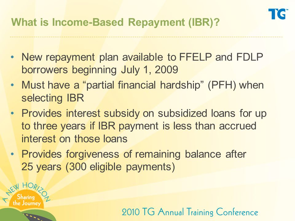What is Income-Based Repayment (IBR)