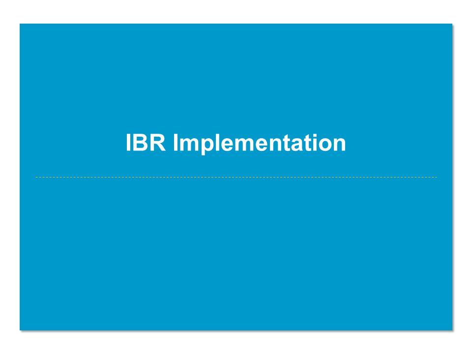 IBR Implementation