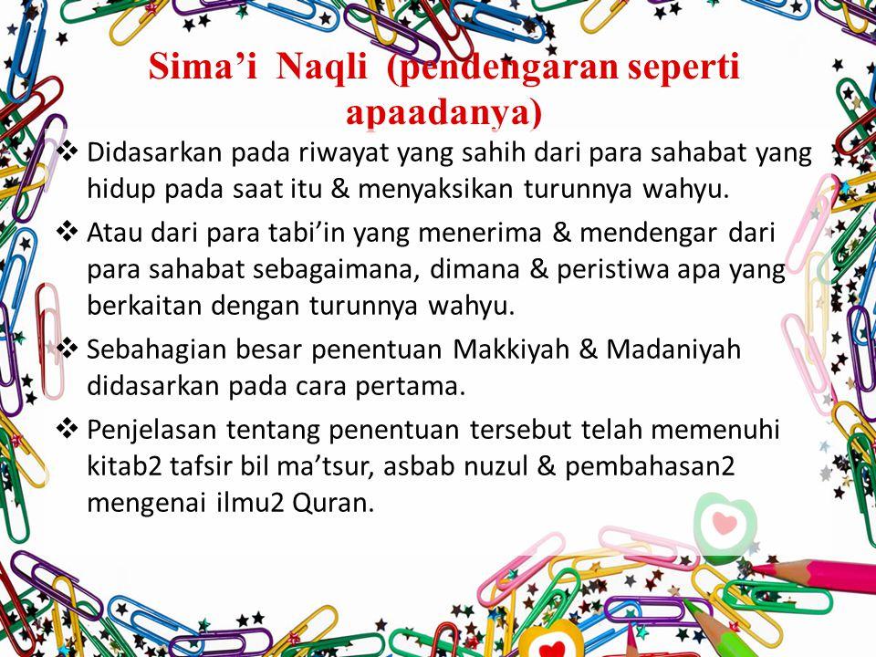 Sima'i Naqli (pendengaran seperti apaadanya)