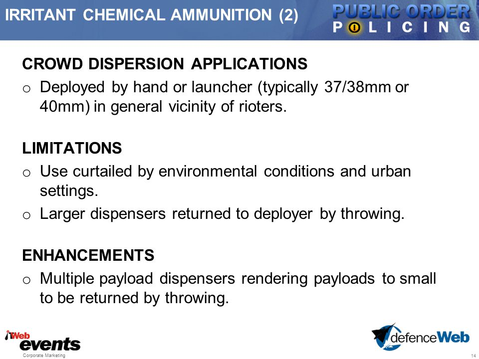 IRRITANT CHEMICAL AMMUNITION (2)